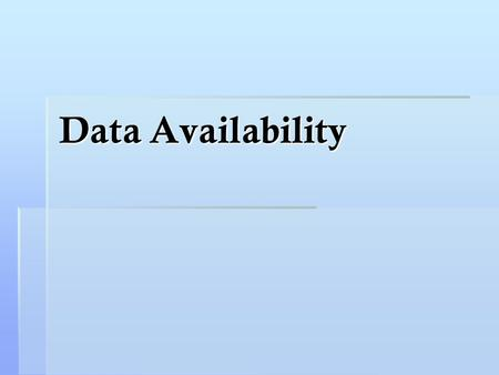 Data Availability.