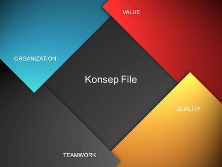 VALUE ORGANIZATION Konsep File QUALITY TEAMWORK.