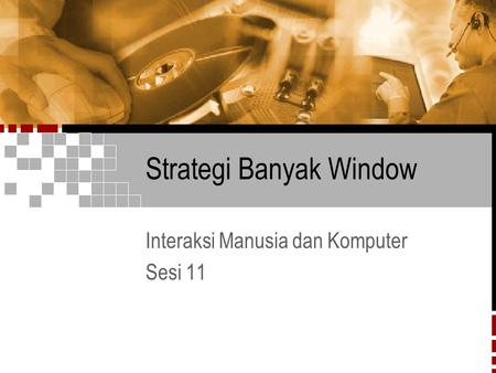 Strategi Banyak Window