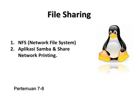 File Sharing NFS (Network File System)
