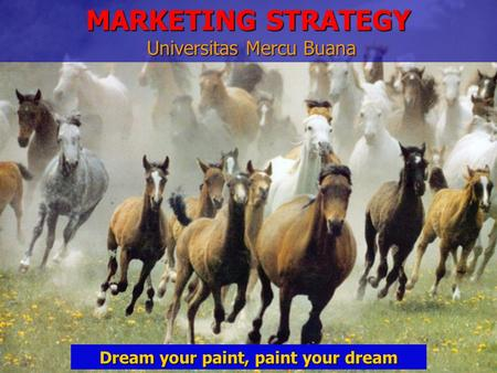 Dream your paint, paint your dream MARKETING STRATEGY Universitas Mercu Buana.