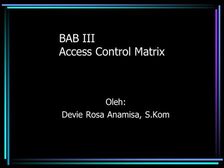 BAB III Access Control Matrix