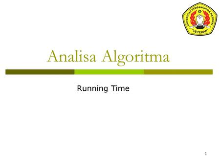 Analisa Algoritma Running Time.