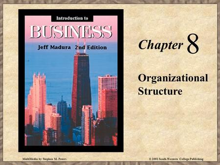 MultiMedia by Stephen M. Peters© 2001 South-Western College Publishing Chapter 8 Organizational Structure Introduction to.