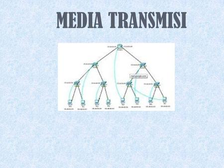 MEDIA TRANSMISI Media Transmisi Guided - wire Unguided - wireless.