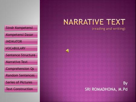 Narrative text (reading and writing)