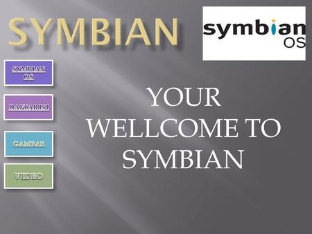 YOUR WELLCOME TO SYMBIAN