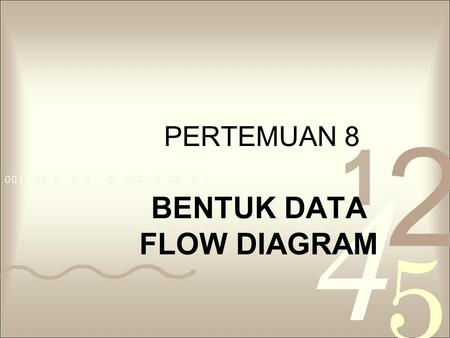 BENTUK DATA FLOW DIAGRAM