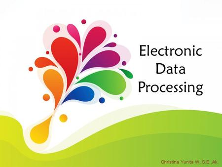 Electronic Data Processing Christina Yunita W, S.E.,Ak.