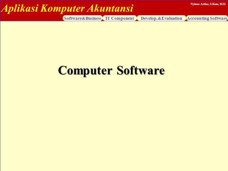 Computer Software.