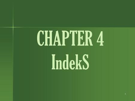 CHAPTER 4 IndekS.