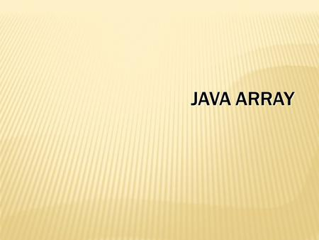 Java array.