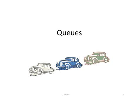 Queues1. 2 The Queue ADT (§4.3) The Queue ADT stores arbitrary objects Insertions and deletions follow the first-in first-out scheme Insertions are at.