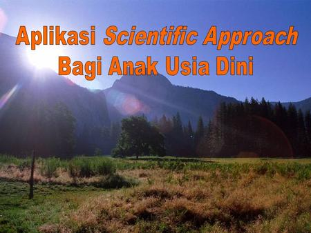 Aplikasi Scientific Approach