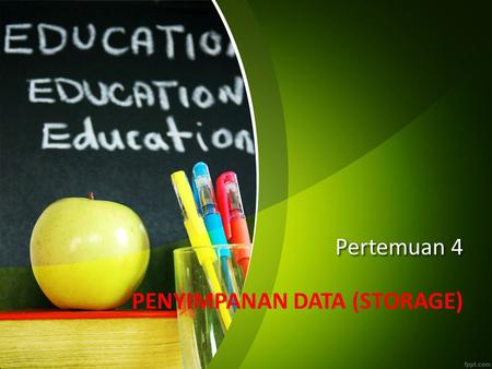 PENYIMPANAN DATA (STORAGE)