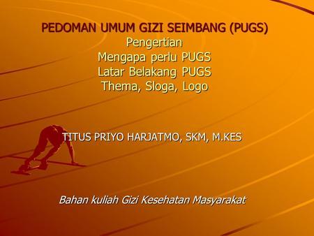 MAKANAN SEIMBANG - PowerPoint PPT Presentation
