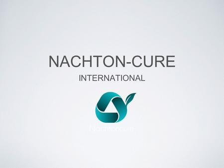NACHTON-CURE INTERNATIONAL. PRODUK MARKETING PLAN.