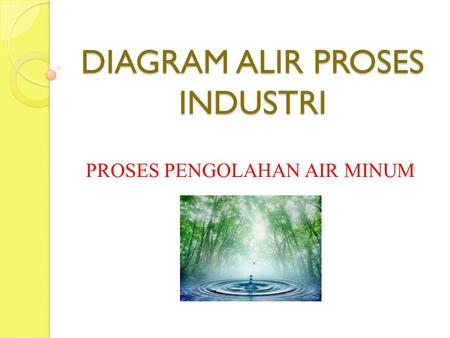 DIAGRAM ALIR PROSES INDUSTRI