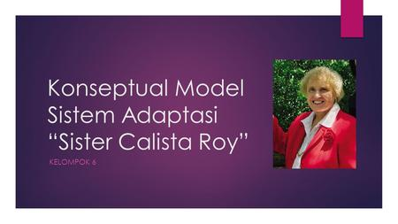 "Konseptual Model Sistem Adaptasi ""Sister Calista Roy"""
