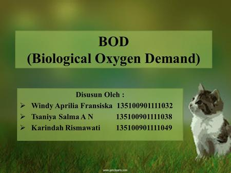BOD (Biological Oxygen Demand)