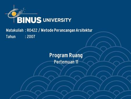 Program Ruang Pertemuan 11