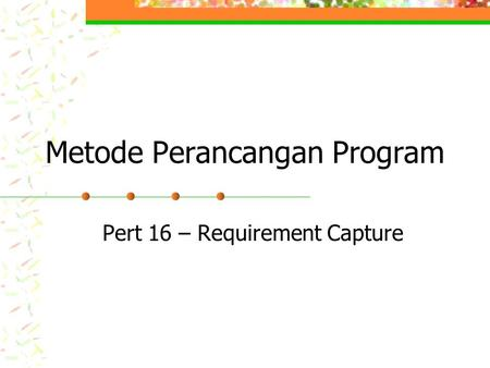 Metode Perancangan Program