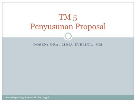 TM 5 Penyusunan Proposal