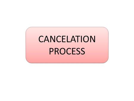 CANCELATION PROCESS. Cancelation Request From Customer Cek nomor order di OMS Cek penggunaan voucher di OMS Note : apabila menggunakan voucher edukasi.