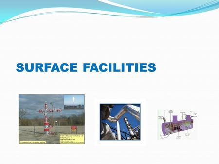 SURFACE FACILITIES. gas choke separator Stock Tank Safety valve restriction packer perforation Surface Production System Reservoir Water Disposal Injection.