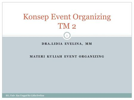 Konsep Event Organizing TM 2