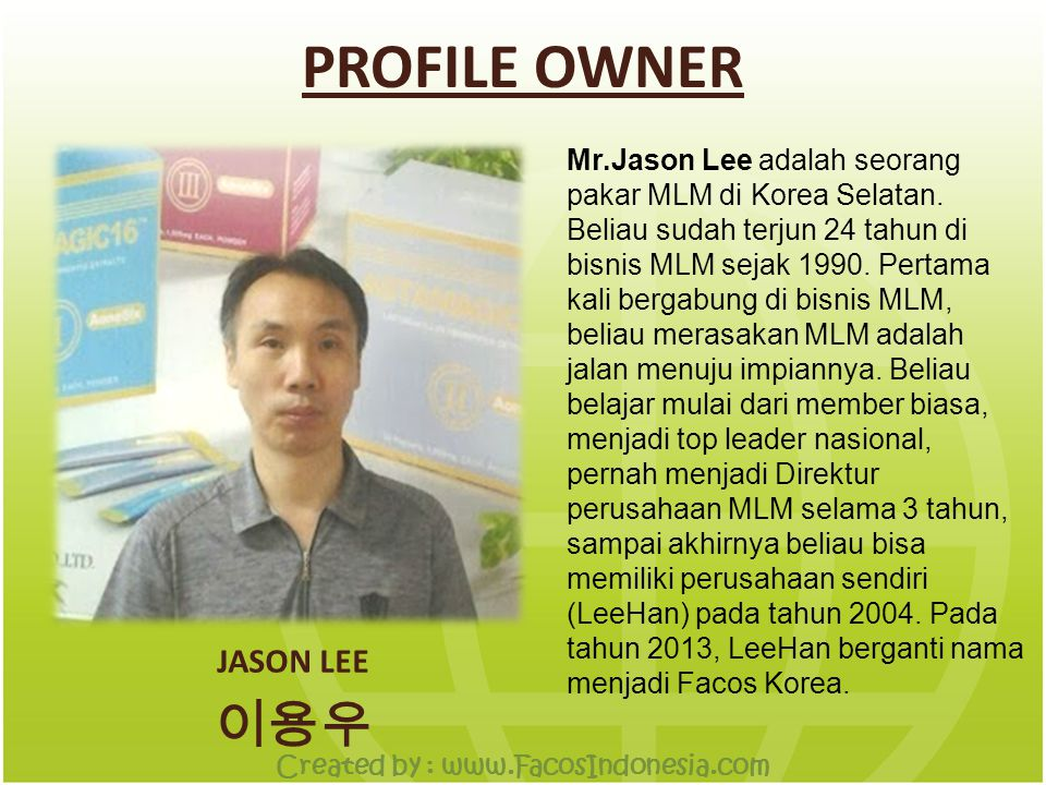 VISI & MISI HUMAN SERVICE CUSTOMERS HEALTHY SHARE TOGETHER BUSINESS PARTNER Created by : www.FacosIndonesia.com
