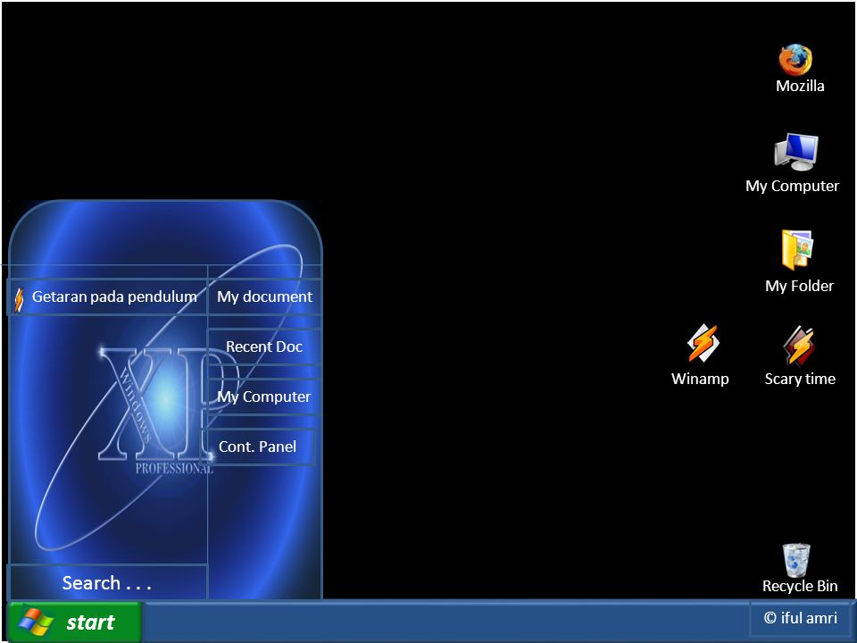 Click to edit Master title style File Insert Play View Option start Mozilla Recycle Bin My Computer My Folder Getaran pada pendulum Search...