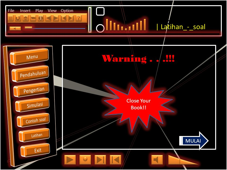 Click to edit Master title style File Insert Play View Option Warning...!!.