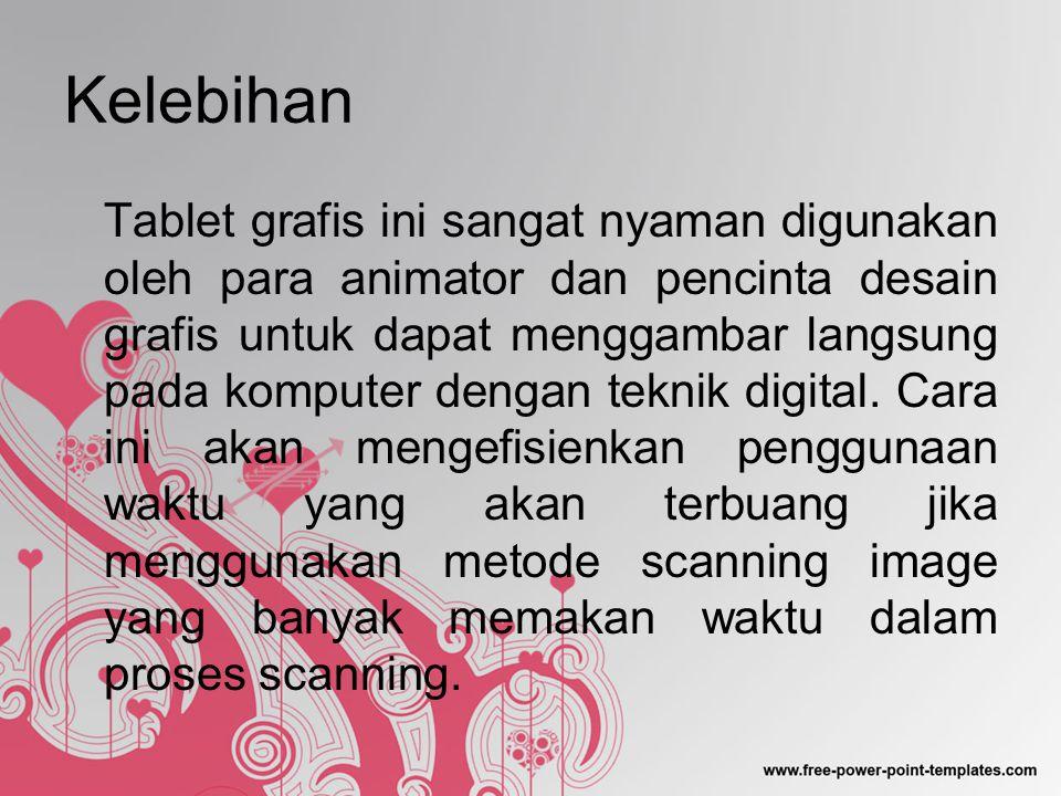 Kesimpulan Tablet Grafis adalah alat input yang memungkinkan penggunanya untuk menggambar pada komputer dengan tangan, seperti menggambar di atas kertas.