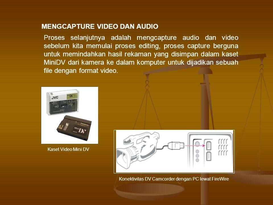 Sebelum memulai capture video Anda dapat mengatur tempat penyimpanan hasil capture dan file preview di dalam harddisk.