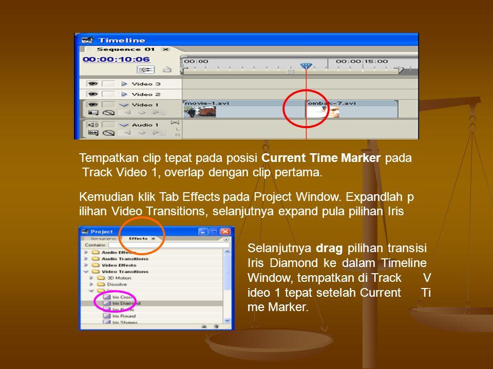 Kita dapat melihat hasil pemberian transisi dengan melakukan Play pada Sequence Monitor Window atau dengan menekan Space Bar pada keyboard komputer (Adobe Premiere Pro tidak memerlukan proses render untuk memainkan hasil transisi).