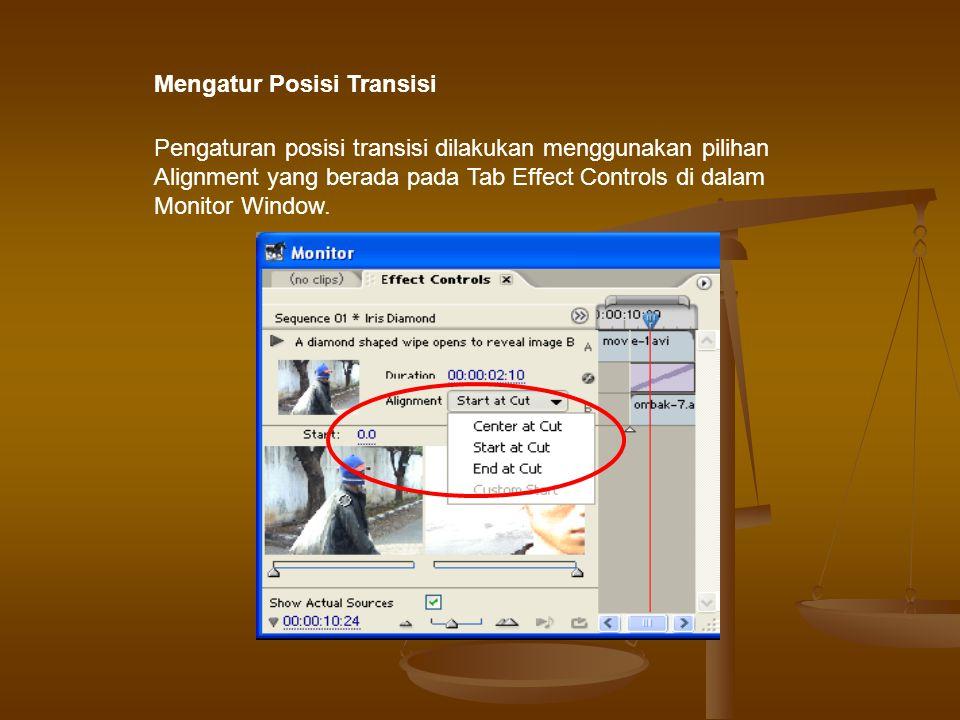 Menghapus Transisi Pada suatu saat mungkin kita perlu menghapus transisi yang telah kita buat, maka untuk menghapus transisi caranya pilih transisi yang akan dihapus kemudian tekan tombol Delete yang ada dalam keyboard komputer.