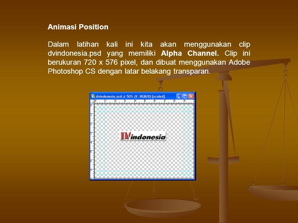 Berikut ini langkah-langkah latihan membuat animasi position 1.