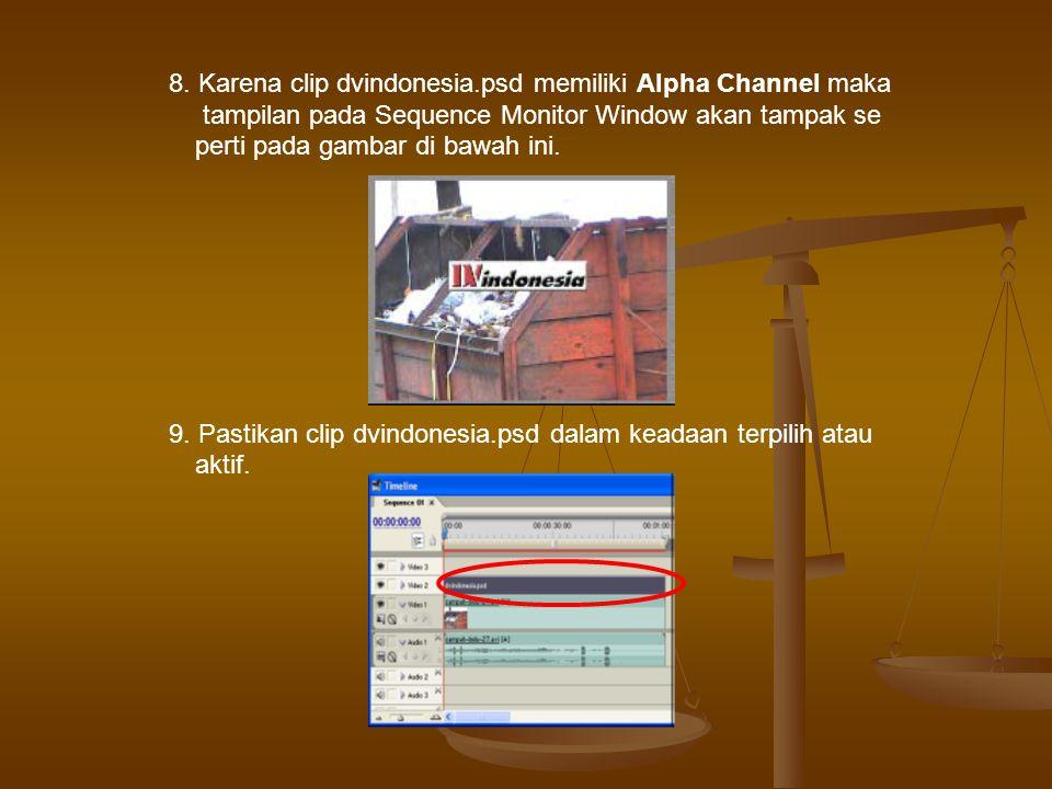 11.Kemudian expand pilihan Motion yang ada dalam Tab Effect Controls 10.