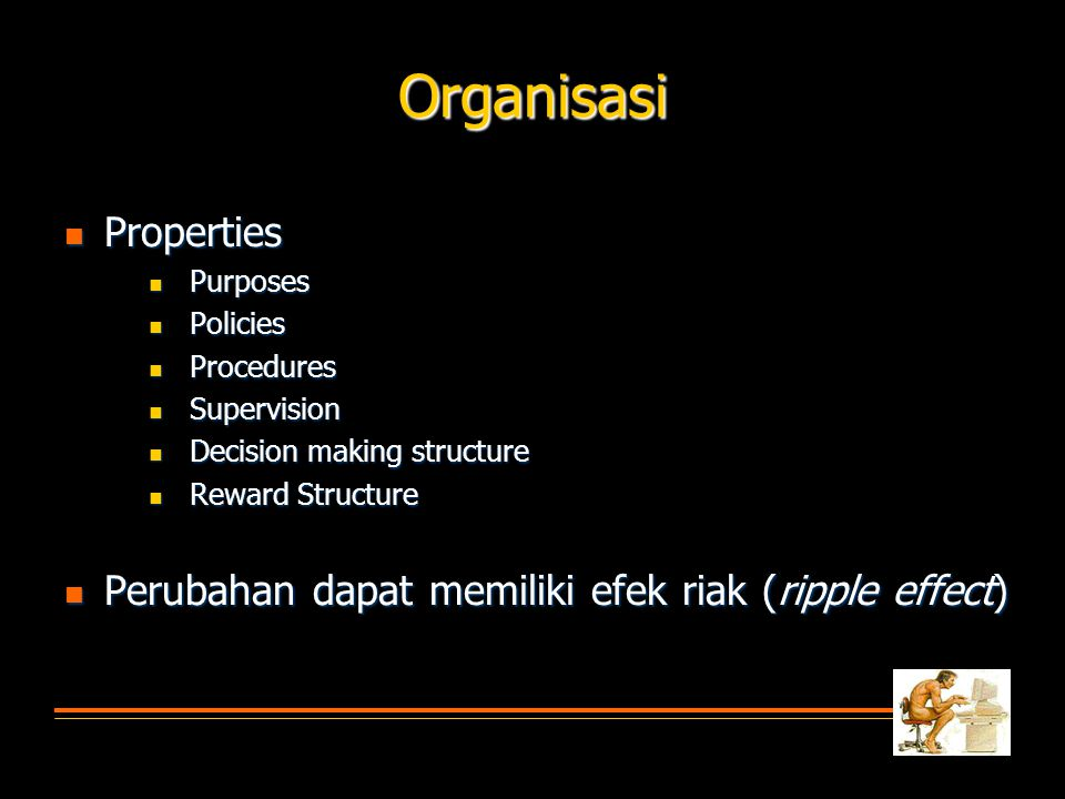 Lingkungan  Properties  Physical  Comfort  Sensory and Performance disruption  Social  Interaction with coworkers/boss  Social support  Extra-organization factors  Faktor internal dan eksternal berpengaruh