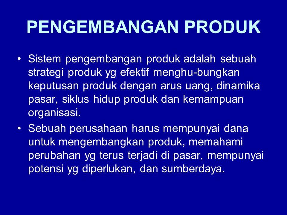 •Tahapan-tahapan Pengembangan Produk Ide dari banyak sumber Apakah perusahaan mampu melaksanakan ide .