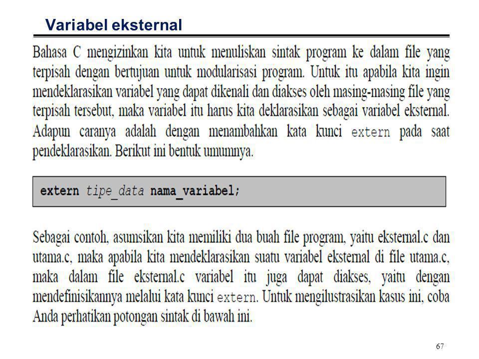 68 Variabel eksternal