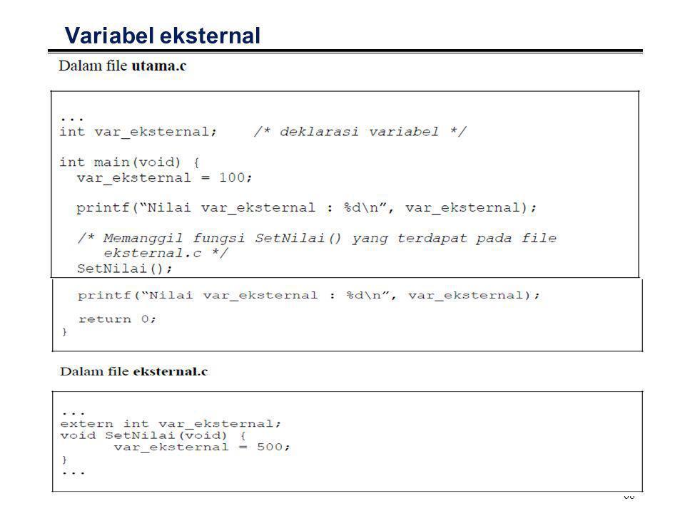 69 Variabel eksternal