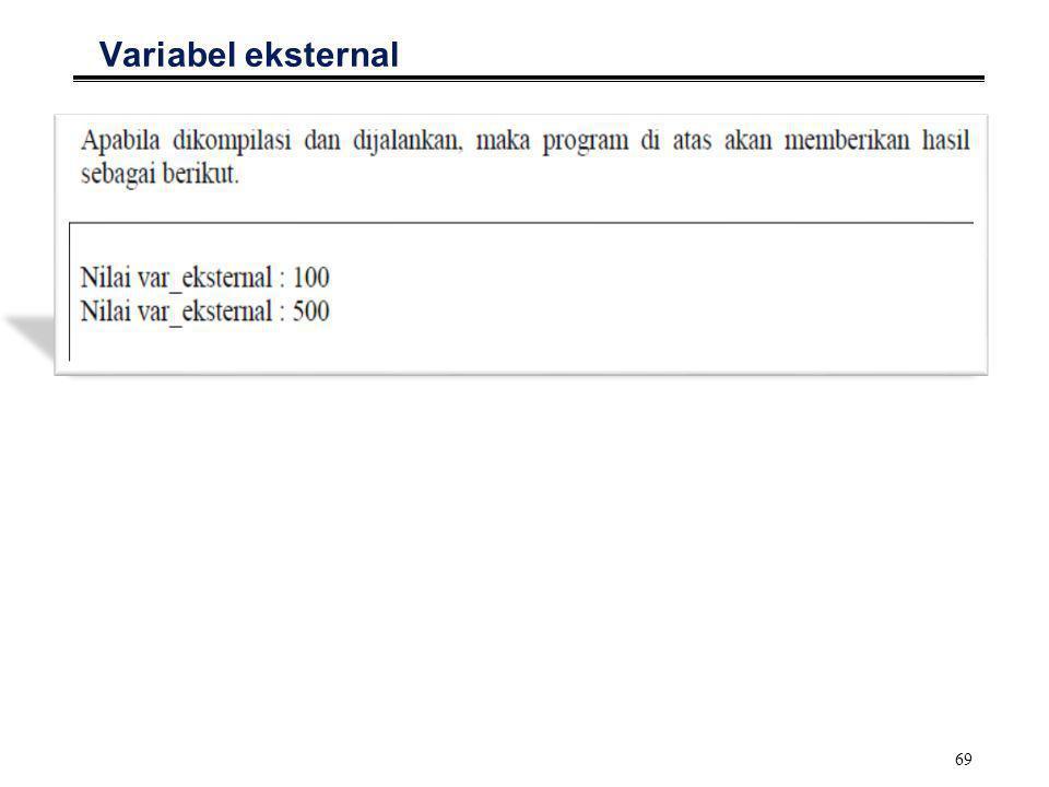 70 Variabel register