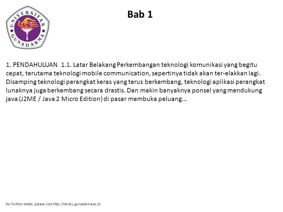 Bab 2 2.LANDASAN TEORI 2.1. Java 2 Micro Edition (J2ME) 2.1.1.