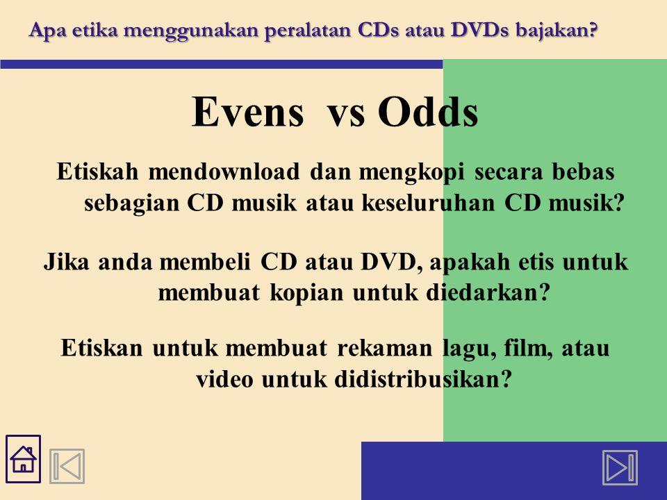 Haruskah perusahaan rekaman atau film mengguna- kan teknik format untuk mencegah orang menyalin CD atau DVD?