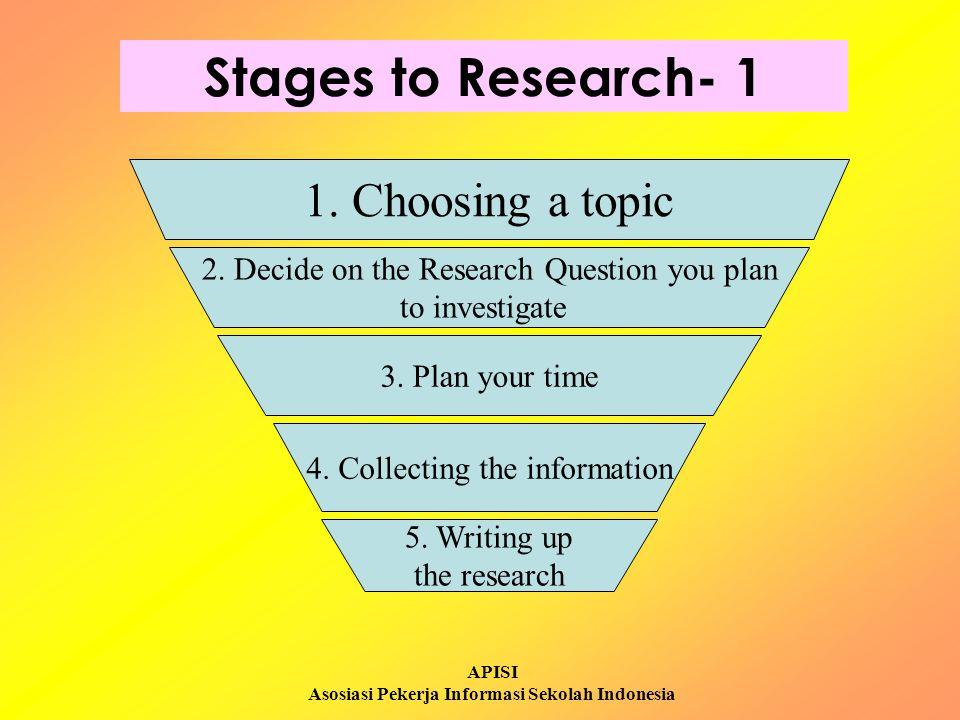 APISI Asosiasi Pekerja Informasi Sekolah Indonesia Stages to Research 2 8.