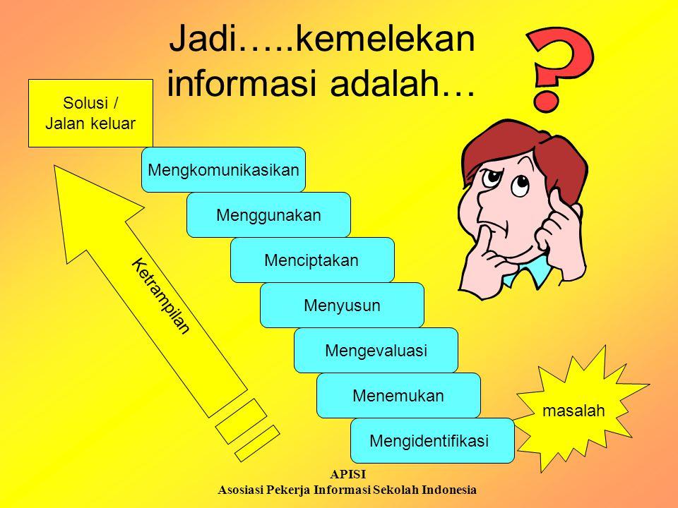 APISI Asosiasi Pekerja Informasi Sekolah Indonesia Mengapa kemelekan informasi itu penting bagi siswa (dan mahasiswa).