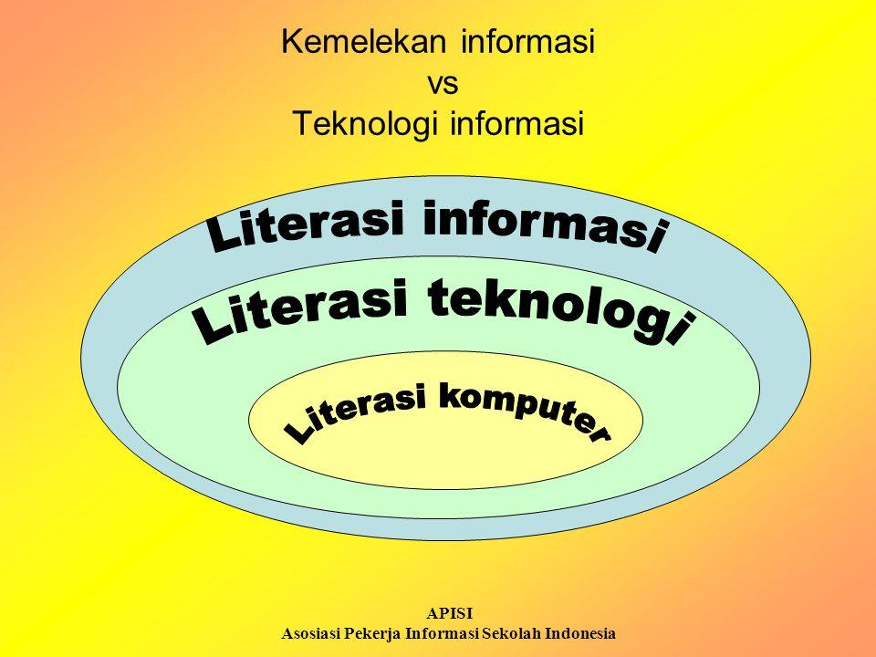 APISI Asosiasi Pekerja Informasi Sekolah Indonesia Orang yang melek informasi adalah: Mereka yang sudah belajar bagaimana caranya belajar Mereka berpikir kritis dan bersikap etis terhadap informasi yang dimilikinya Menjadikan kegiatan belajar menjadi sebuah kegiatan yang menjadi bagian dari kehidupannya