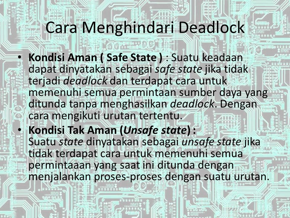 Ilustrasi Safe dan Unsafe State